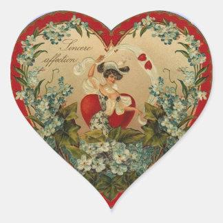 Pegatinas de la tarjeta del día de San Valentín de Colcomanias Corazon Personalizadas