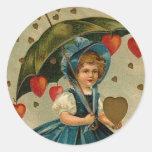 Pegatinas de la tarjeta del día de San Valentín de Etiqueta Redonda