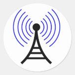 Pegatinas de la torre de radio pegatina redonda