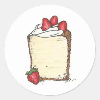 Pegatinas de la torta de comida de ángel pegatinas redondas