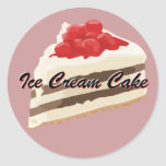 Pegatinas de la torta del helado etiqueta redonda