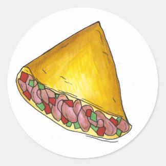 Pegatinas de la tortilla del huevo de Denver Pegatina Redonda
