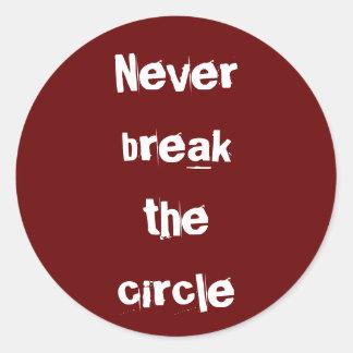 Pegatinas de la trilogía del círculo pegatina redonda