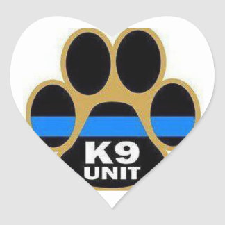 Pegatinas de la unidad K-9 Pegatina En Forma De Corazón