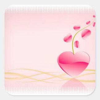 Pegatinas de la vida del corazón calcomania cuadradas personalizadas