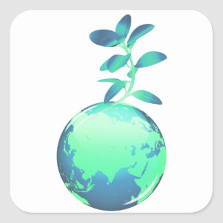 Pegatinas de la vida vegetal pegatina cuadrada