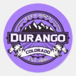 Pegatinas de la violeta del logotipo de Durango