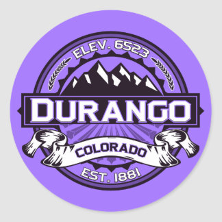 Pegatinas de la violeta del logotipo de Durango Etiqueta Redonda