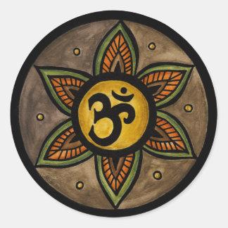 Pegatinas de la yoga del ohmio pegatina redonda