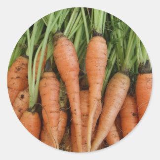Pegatinas de la zanahoria pegatina redonda