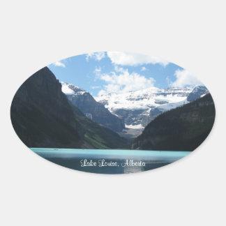 Pegatinas de Lake Louise, Alberta Pegatina Ovalada