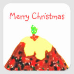Pegatinas de las Felices Navidad Calcomanía Cuadradas