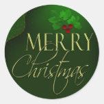 Pegatinas de las Felices Navidad Etiquetas Redondas