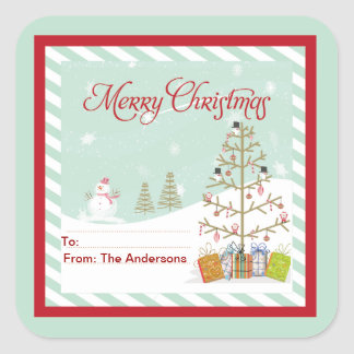 Pegatinas de las Felices Navidad de la etiqueta de