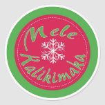 Pegatinas de las Felices Navidad de Mele Pegatina Redonda