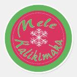 Pegatinas de las Felices Navidad de Mele Kalikimak