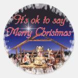 Pegatinas de las Felices Navidad Pegatina Redonda