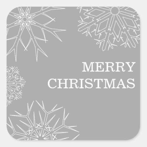 Pegatinas de las Felices Navidad - sellos del Calcomanías Cuadradass
