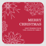 Pegatinas de las Felices Navidad - sellos del Calcomania Cuadradas Personalizada