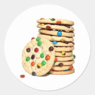 Pegatinas de las galletas pegatinas redondas