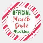Pegatinas de las galletas de Polo Norte del Etiqueta Redonda