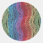 Pegatinas de las gotas del estallido de la moda pegatina redonda