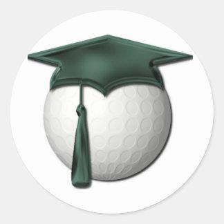 Pegatinas de las lecciones de golf etiquetas redondas