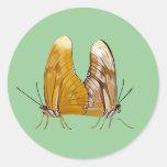 Pegatinas de las mariposas de Julia Pegatinas Redondas