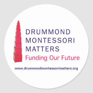 Pegatinas de las materias de Drummond Montessori