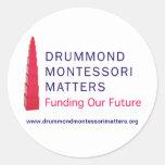 Pegatinas de las materias de Drummond Montessori Pegatina Redonda