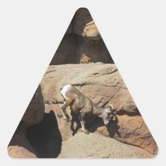 Pegatinas de las ovejas de Bighorn Pegatina Triangular