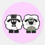 Pegatinas de las ovejas del boda
