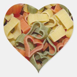 Pegatinas de las pastas pegatina en forma de corazón