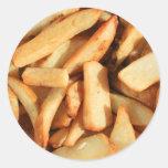 Pegatinas de las patatas fritas etiquetas redondas