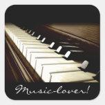 Pegatinas de las Piano-llaves del AMANTE DE LA MÚS