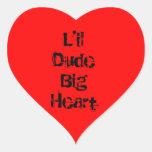 Pegatinas de LDBH Pegatina De Corazón Personalizadas