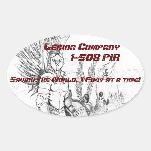 Pegatinas de Legion Company Pegatina Ovalada