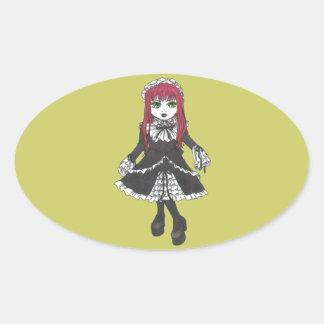 Pegatinas de Lilith de la hermana Pegatinas Ovaladas