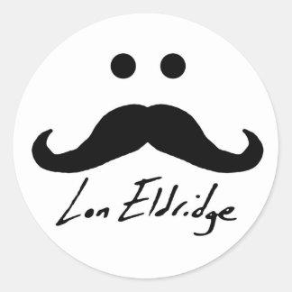 ¡Pegatinas de Lon Eldridge! Pegatina Redonda