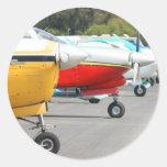 Pegatinas de los aeroplanos pegatina redonda