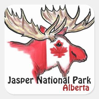 Pegatinas de los alces de Alberta Canadá del Pegatina Cuadrada