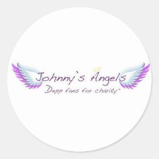 Pegatinas de los ángeles de Johnny Etiqueta Redonda