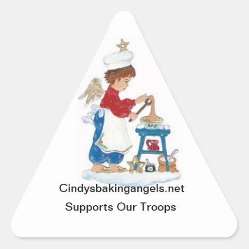 ¡Pegatinas de los ángeles de la hornada de Cindy! Calcomanía De Triangulo
