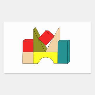 Pegatinas de los bloques huecos rectangular altavoz