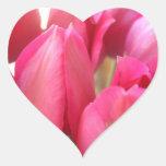 Pegatinas de los bulbos del tulipán colcomanias de corazon