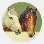 Pegatinas de los caballos de la demostración del v