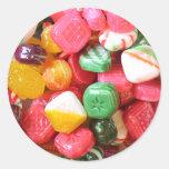Pegatinas de los caramelos duros pegatinas redondas