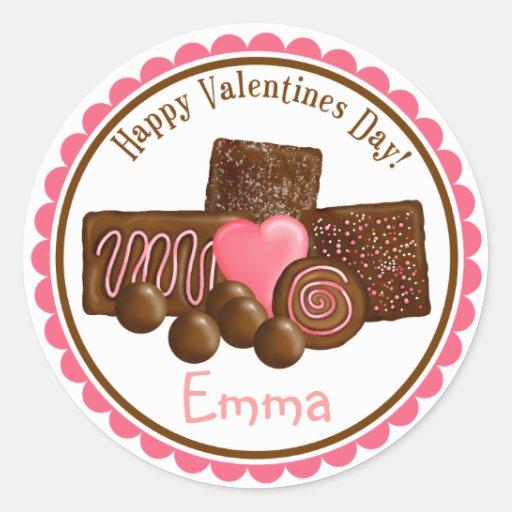 Pegatinas de los chocolates del día de San Valentí