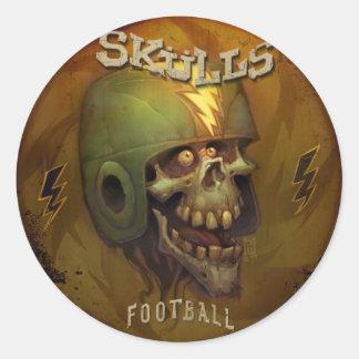 Pegatinas de los cráneos de YE Olde Etiqueta Redonda