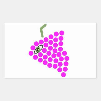 """""""Pegatinas de los Cyclops de la uva"""" Rectangular Pegatinas"""